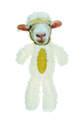 Fur Realz Sheep Full Body Flattie Plush Dog Toy