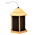 Trio 3-Way Bamboo Hanging Wild Bird Feeder, 3-Pound Total Capacity