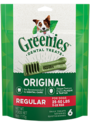 6-Ounce Greenies Original Regular Size Dog Dental Treats