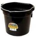 20-Quart Black Flat Back Plastic Bucket