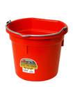 20-Quart Red Flat Back Plastic Bucket