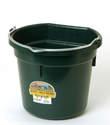 20-Quart Green Flat Back Plastic Bucket