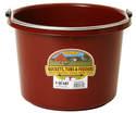 8-Quart Burgundy Plastic Bucket