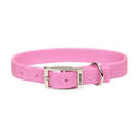 20-Inch Pink Double-Ply Nylon Dog Collar