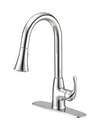 Chrome Kitchen Faucet With Pull-Down Sprayer