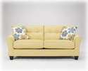 Signature Design By Ashley 6640138 Kylee - Goldenrod Sofa