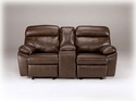 Signature Design By Ashley 9480194 Sander DuraBlend - Coffee Dbl Rec Loveseat W/Console