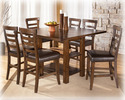 Signature Design By Ashley D544-32 Pinderton - Dark Brown Square Drm Counter Ext Table
