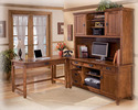 Signature Design By Ashley H319-47 Cross Island - Medium Brown Home Office Corner Table