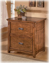 Signature Design By Ashley H319-42 Cross Island - Medium Brown Lateral File Cabinet