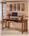 Signature Design By Ashley H319-44 Cross Island - Medium Brown Home Office Large Leg Desk