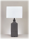 Signature Design By Ashley L121844 Patience - Gray Ceramic Table Lamp (2/Cn)