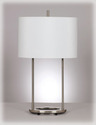 Signature Design By Ashley L413124 Maisie - Nickel Finish Metal Table Lamp (2/Cn)
