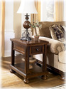 Signature Design By Ashley T697-3 Porter - Rustic Brown Chair Side End Table
