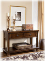 Signature Design By Ashley T697-4 Porter - Rustic Brown Console Sofa Table