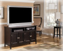 Signature Design By Ashley W371-28 Carlyle - Almost Black Medium Tv Stand