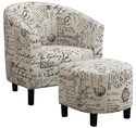 Coaster 900210 Accent Seating Two-Piece Accent Chair