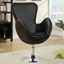 Coaster 902100 Black Swivel Leisure Chair