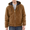 Carhartt J130 BRN Sandstone Active Jac/Quilted Flannel Lined Xlr
