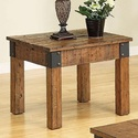 Coaster 701457 Distressed Country Wagon End Table
