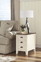 Signature Design By Ashley T583-7 Whitesburg - Brown/Cottage White Chair Side End Table