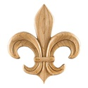 HARDWARE RESOURCES PAPL-14RW Fleur-De-Lis Traditional Applique