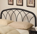 Coaster 300184QF Queen Modern Black Metal Headboard