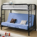 Coaster 2250K Fordham Twin Over Full Futon Metal Bunk Bed