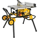 DeWalt DWE7491RS 10 In Jobsite Table Saw 32 - 1/2 In (82.5cm) Rip Capacity, And A Rolling Stand