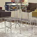 Coaster 120335 Modern Bar Table With Glass Top