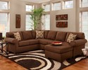 Affordable Furniture 3051/3052 Sectional Patriot Chocolate