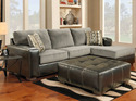 Affordable Furniture 3651/3652 Sectional Sensations Gray