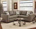 Affordable Furniture 3851/3852 Sectional Vivid Onyx
