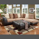 Affordable Furniture 6351/6352 Sectional Sea Rider Saddle