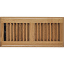 Orgill Inc 5387196 Register Floor Louvered 4x10 In Light Oak