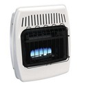 GHP Group BF10DTDG-1 Dyna Glo 10k Btu Vent Free Dual Fuel Wall Heater With Legs And Blower