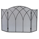 GHP Group 633 Fireplace Screen Gothic Black Finish
