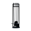 GHP Group FA013TA Fireplace Tool Set Classic Black Finish 4 Piece
