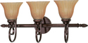 Satco Nuvo Lighting 60-017 Vanity Light Fixture With Champagne Linen Washed Glass 25 In