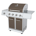 GHP Group DGE486BSP-D Dyna Glo Four Burner Lp Gas Grill With Side Burner Burnished Bronze