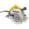 DeWalt DW384 8-1/4 In (210mm) Circular Saw With Rear Pivot Depth Of Cut Adjustment And Electric Brake
