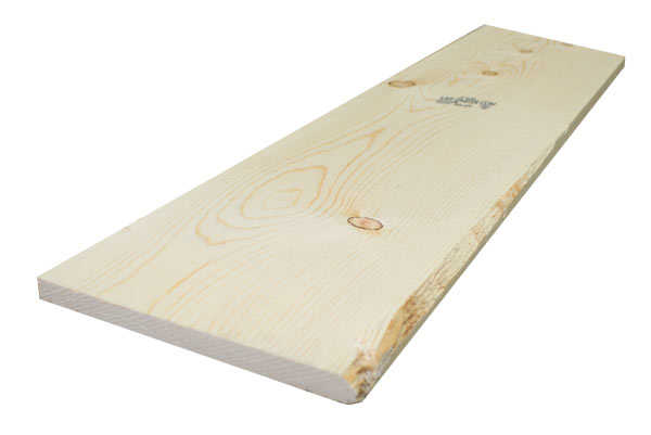 1x10 8 ft 2 btr ponderosa pine kiln dried s4s board at for Sutherlands building packages