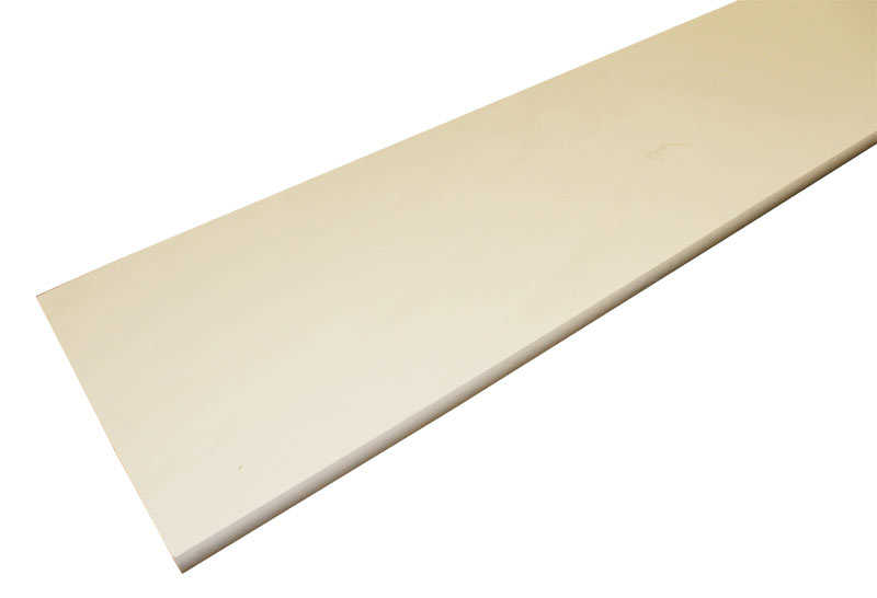 3 4x12 8 ft bullnose particle board shelving white at for Sutherlands building packages