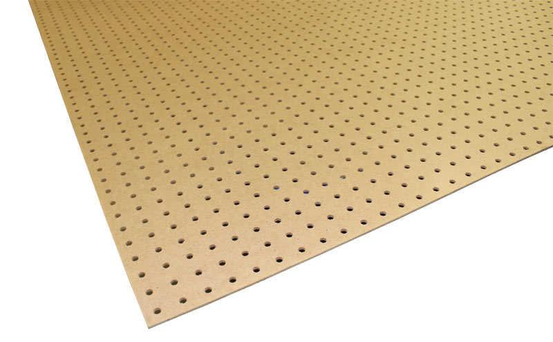 4x8 1/8 Tempered Peg Board at Sutherlands