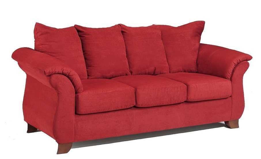 affordable furniture sensations red brick sofa. Affordable Furniture 6703 Sensations Sofa In Red Brick H