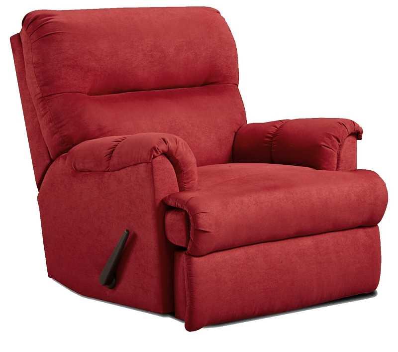 affordable furniture 2155 sensations red brick microfiber