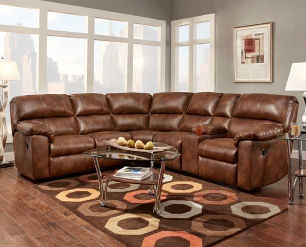 affordable furniture 1451 1452 1457 3 piece wyoming saddle ForAffordable Furniture 3 Piece Sectional In Wyoming Saddle