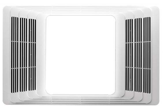 Broan-Nutone 655 70-Cfm White Plastic Grille Heater With