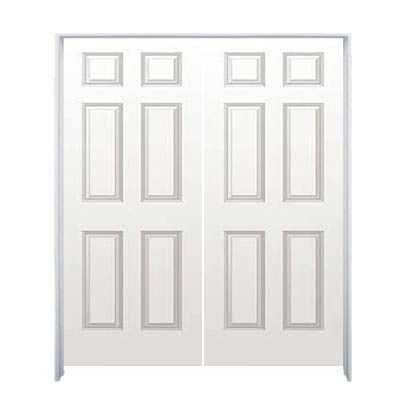 Sutherlands 2 0x6 8twn 48 In 6 Panel Molded Hollow Core Double Prehung Door At Sutherlands