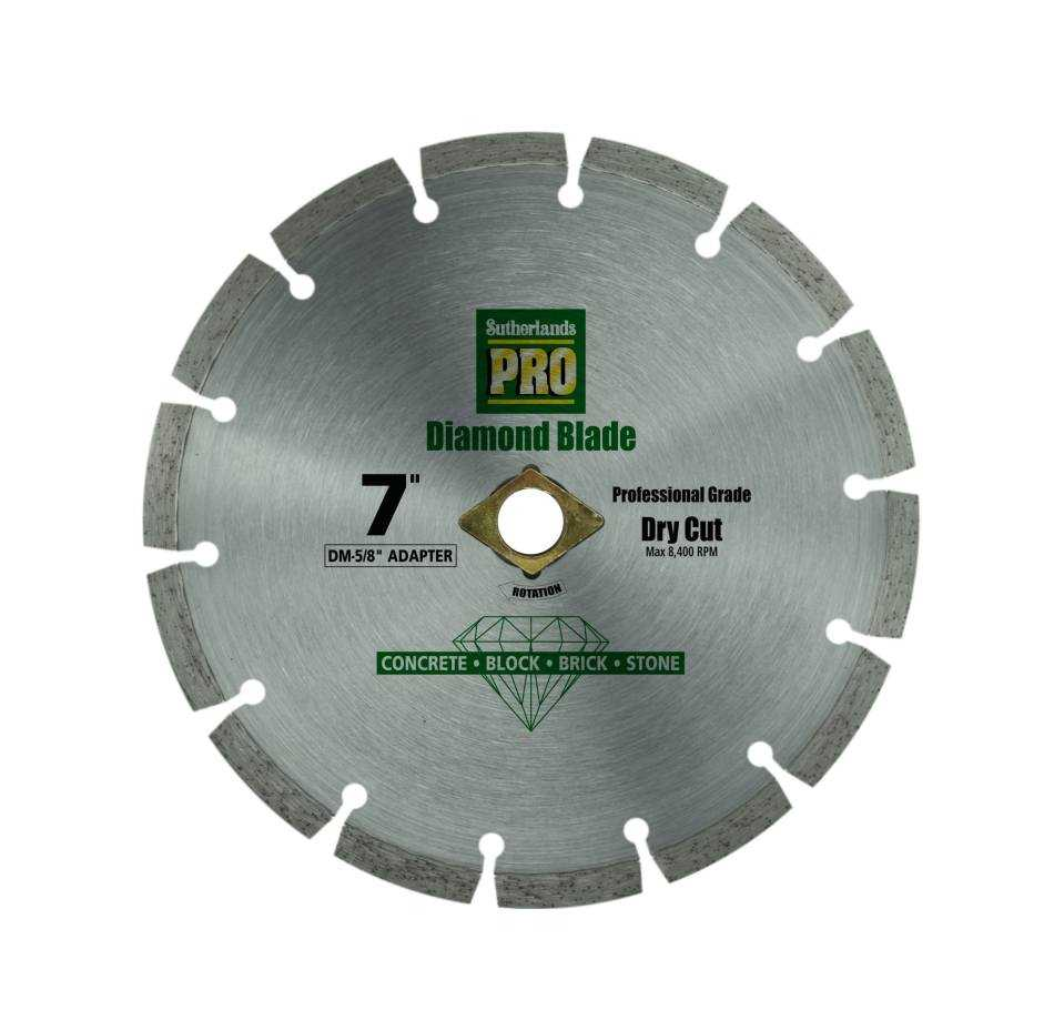 Sutherlands Pro 53574 4 1 2 In Segmented Rim Diamond Saw